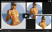 Crop images in advanced shapes video