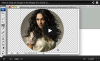 Crop images into circle shapes video