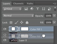 Drag the filled layer