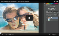 Blend image into background video