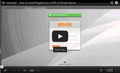 Initial WHM cPanel setup