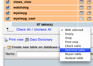 MYSQL table optimization