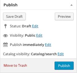 Publish section