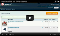 Table Rate Shipping Video