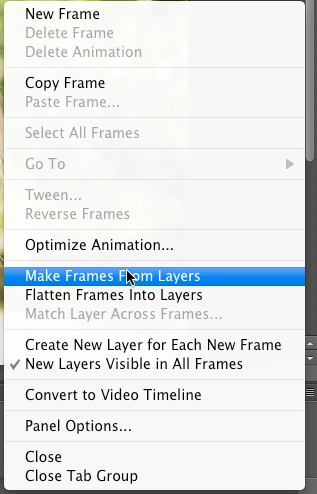 Select make frames from layers