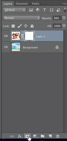 "Click the ""add layer mask"" icon"