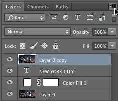 Select the arrow icon in the layers window