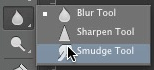 Choose smudge tool