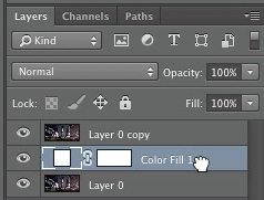 Fill layer should be position beneath the duplicate background layer