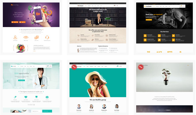 Premium BeTheme Responsive Business Themes Screenshot 2