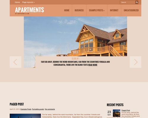 Free WordPress Apartments Responsive Business Theme Screenshot