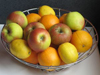 Apples and Oranges Basket