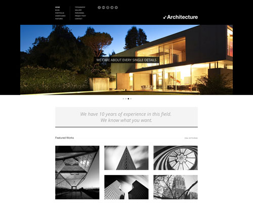 Premium Architecture Responsive WordPress Business Theme Screenshot
