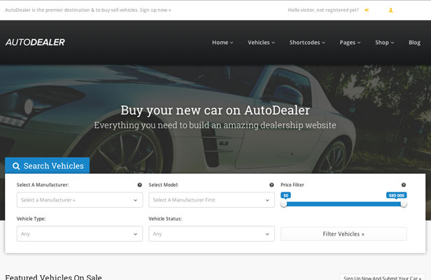 Premium WordPress Auto Dealer Responsive Business Theme Screenshot