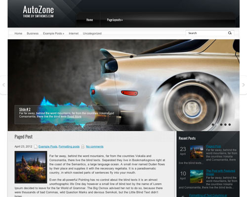 Free WordPress Auto Zone Responsive Business Theme