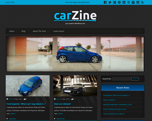 Free WordPress Carzine Responsive Business Theme Screenshot