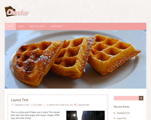 Free WordPress Chooko Lite Responsive Business Theme Screenshot