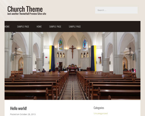 Free WordPress Church Responsive Business Theme