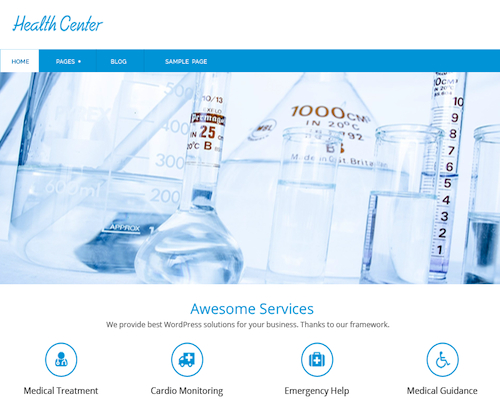 Free Health Center Lite Responsive WordPress Business Theme Screenshot