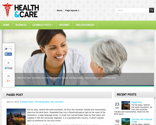 Free WordPress Health Care Responsive Business Theme Screenshot