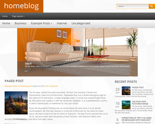 Free Home Blog Responsive WordPress Business Theme Screenshot