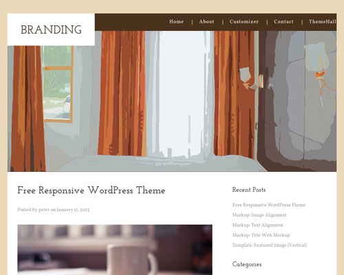 Free WordPress Hotel Responsive Business Theme Screenshot