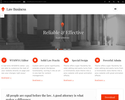 Premium Law Business Responsive WordPress Theme Screenshot