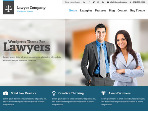 Premium WordPress Lawyer Responsive Business Theme Screenshot