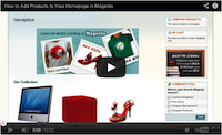 Magento Add Products to Your Homepage Video