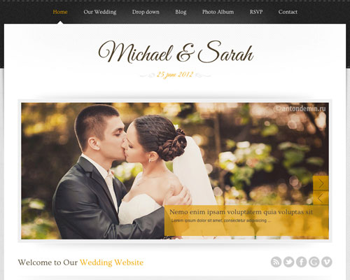 Free WordPress Marriage Responsive Business Theme Screenshot