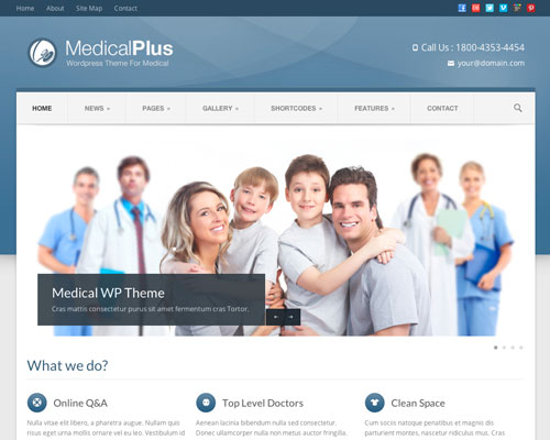 Premium WordPress Medical Plus Responsive Business Theme Screenshot