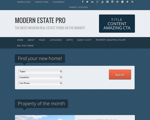 Free WordPress Modern Estate Responsive Business Theme Screenshot