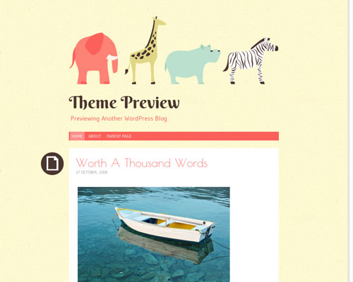 Free WordPress Pachyderm Responsive Business Theme Screenshot