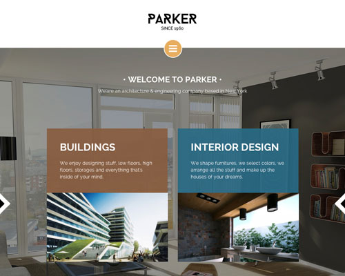 Premium Parker WordPress Responsive Business Theme Screenshot