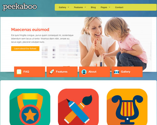 Premium WordPress Peekaboo Responsive Business Theme