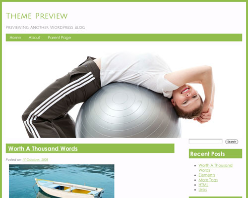 Free Personal Trainer Responsive Business Theme Screenshot