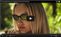 Put sunglasses on a person's face video