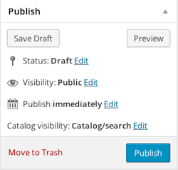 Publish section