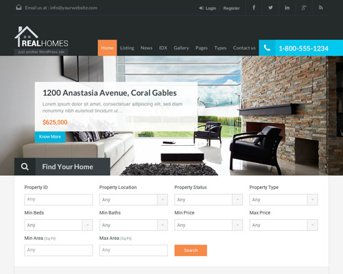 Premium Real Homes Responsive WordPress Business Theme Screenshot