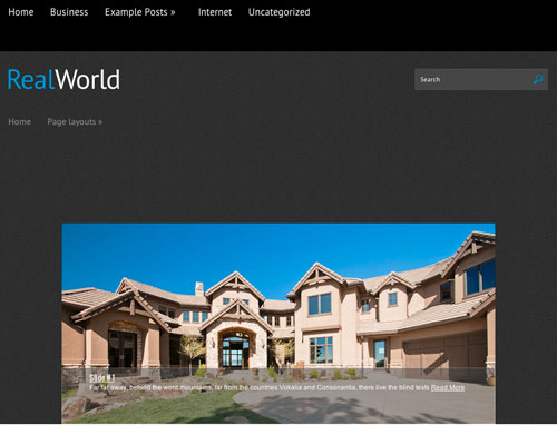 Free WordPress RealWorld Responsive Business Theme Screenshot