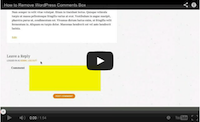 Remove Comments Box Video