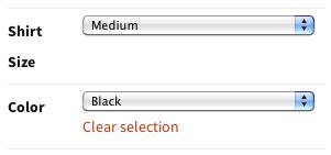 Selection menu
