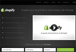 Shopify screenshot