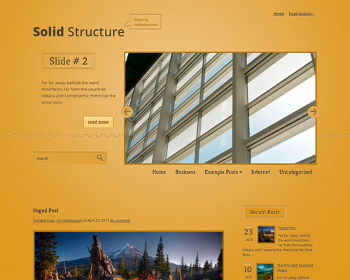 Free Solid Structure WordPress Responsive Business Theme Screenshot