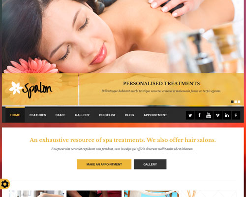 Premium Spalon Responsive WordPress Business Theme Screenshot