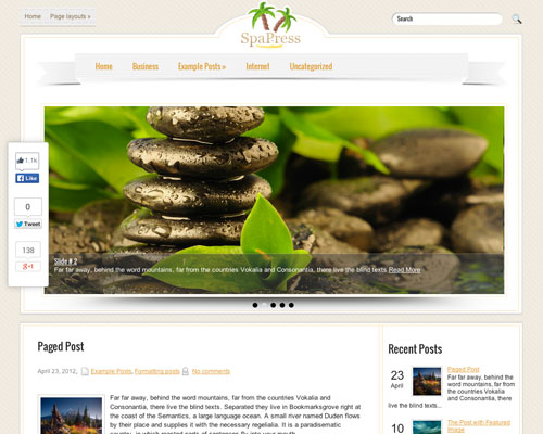 Free WordPress SpaPress Responsive Business Theme Screenshot