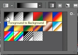 Choose foreground to background gradient