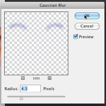 Set gaussian blur radius