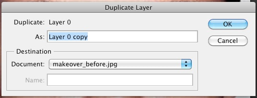 Name duplicate layer