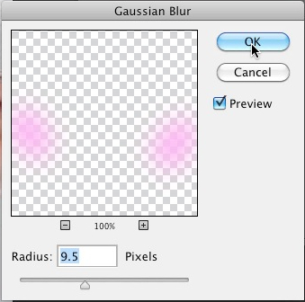 Filter gaussian blur radius